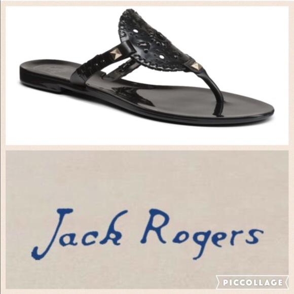 bad9f581a1a0 Jack Rogers Miss Georgica Jellies  Black  3